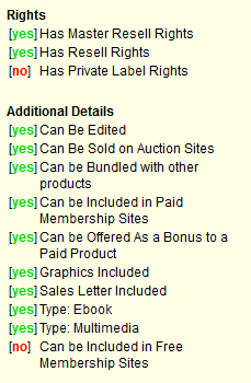 Resell Rights License