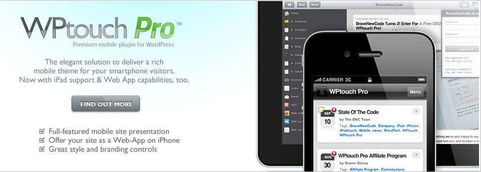 Wordpress Plugin - Wptouch_Pro