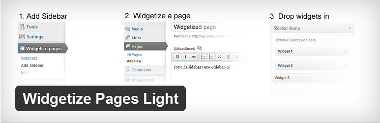 Wordpress Plugin - Widgetize Pages Light
